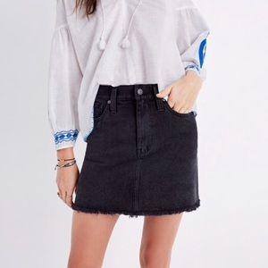 Madewell Raw Hem denim skirt